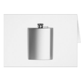Stainless steel hip flask card