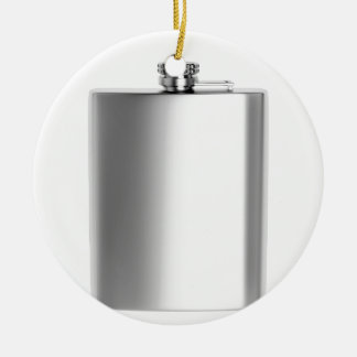 Stainless steel hip flask ceramic ornament