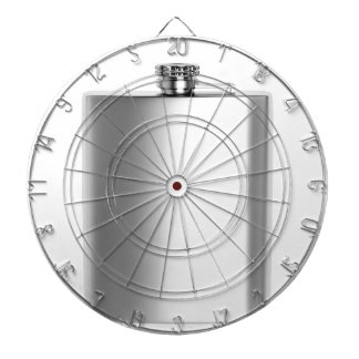 Stainless steel hip flask dartboard