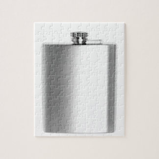 Stainless steel hip flask jigsaw puzzle