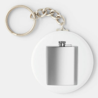 Stainless steel hip flask keychain