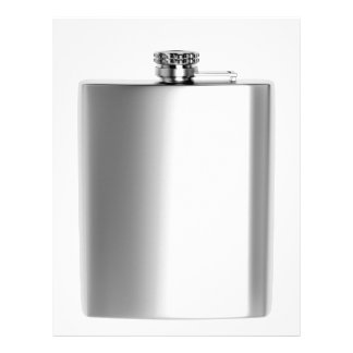 Stainless steel hip flask letterhead