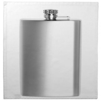 Stainless steel hip flask napkin