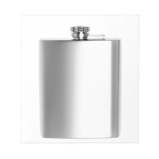 Stainless steel hip flask notepad