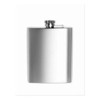 Stainless steel hip flask postcard