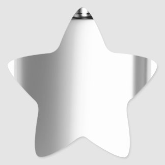 Stainless steel hip flask star sticker