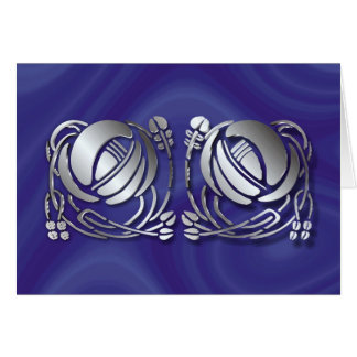 Stainless steel Mackintosh Roses Card
