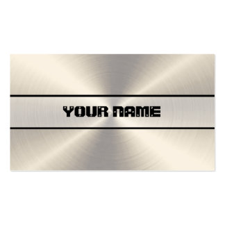 Stainless Steel Metal Double-Sided Standard Business Cards (Pack Of 100)