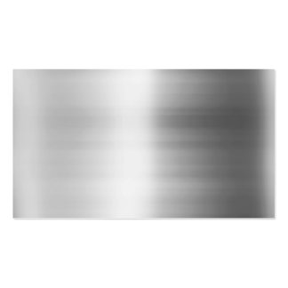 Stainless Steel Metal Look Business Card