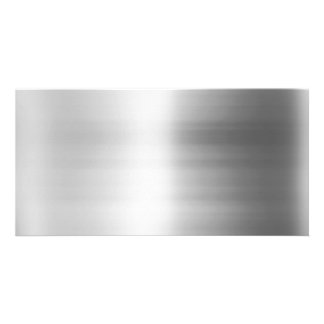 Stainless Steel Metal Look Photo Cards