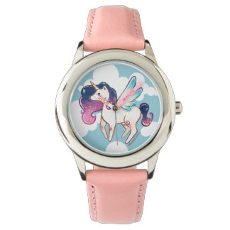 Stainless Steel Pink Unicorn Watch