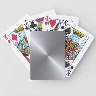 Stainless Steel Polished Metallic Bicycle Playing Cards
