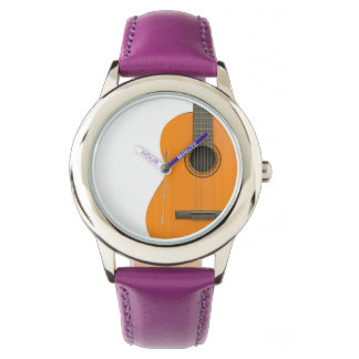 Stainless Steel Purple Watch Classical Guitar