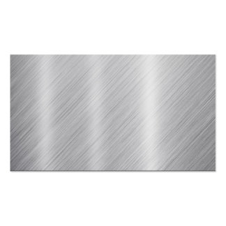 """Stainless Steel texture """"Blank"""" Business Card"""