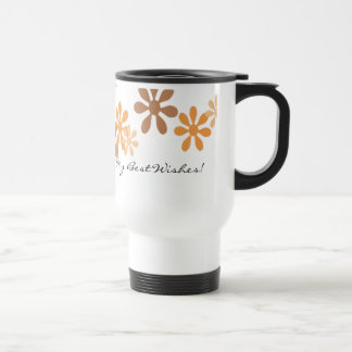 Stainless Steel Travel Mug - Fall Flowers