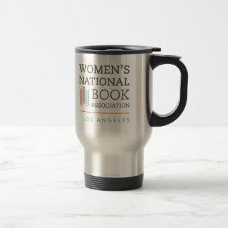 Stainless steel travel mug with WNBA LA logo