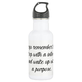 stainless Steel Water Bottle Wake UP On Purpose