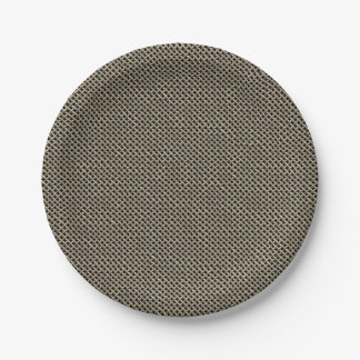 Stainless Steel Wire Mesh Pattern Paper Plate