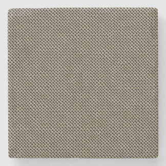 Stainless Steel Wire Mesh Pattern Stone Beverage Coaster
