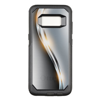 Stainless Wave Design OtterBox Commuter Samsung Galaxy S8 Case