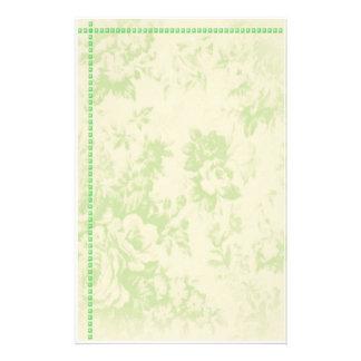 staionary floral papier à lettre personnalisé