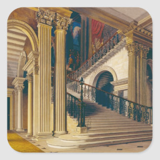 Stair Case, Buckingham House, from 'The History of Square Sticker
