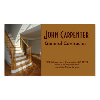 Staircase in new construction home business card template