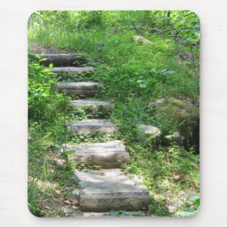 Staircase in the forest mouse pad