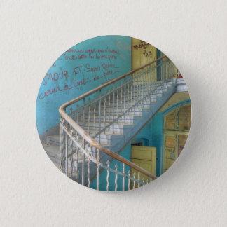 Stairs 01.0, Lost Places, Beelitz 2 Inch Round Button