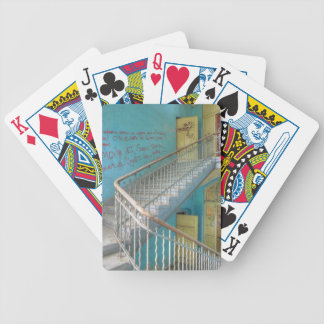 Stairs 01.0, Lost Places, Beelitz Bicycle Playing Cards