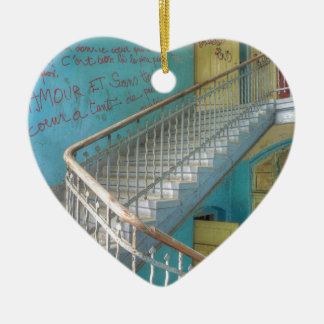 Stairs 01.0, Lost Places, Beelitz Ceramic Ornament