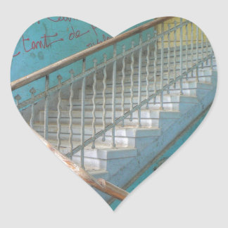 Stairs 01.0, Lost Places, Beelitz Heart Sticker