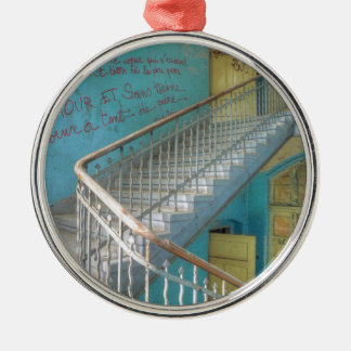Stairs 01.0, Lost Places, Beelitz Metal Ornament