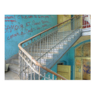 Stairs 01.0, Lost Places, Beelitz Postcard