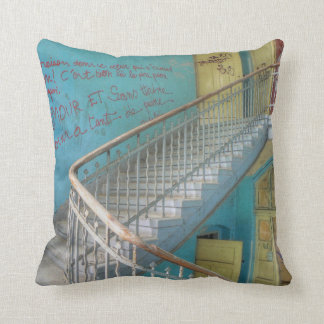 Stairs 01.0, Lost Places, Beelitz Throw Pillow