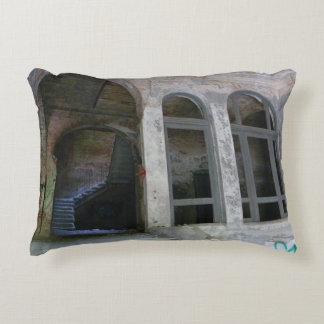Stairs 01.0 ruin, Lost Places, Beelitz Accent Pillow