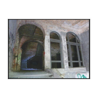 Stairs 01.0 ruin, Lost Places, Beelitz Canvas Print