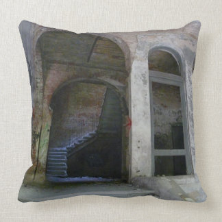 Stairs 01.0 ruin, Lost Places, Beelitz Throw Pillow