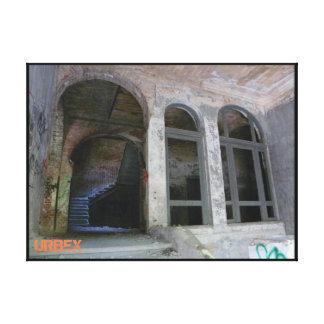 Stairs 01.0 ruin, URBEX, Beelitz Canvas Print