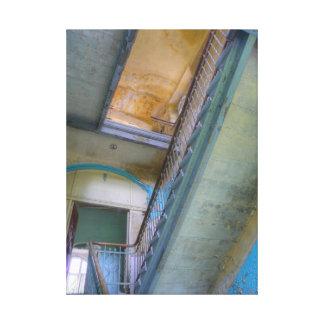 Stairs 02.0, Lost Places, Beelitz Canvas Print