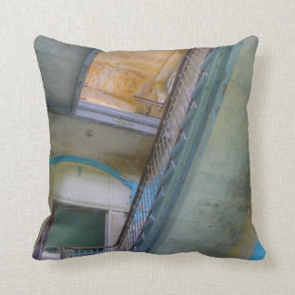 Stairs 02.0, Lost Places, Beelitz Throw Pillow