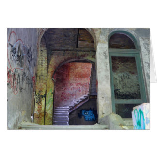 Stairs 02.0 ruin 02, Lost Places, Beelitz Card