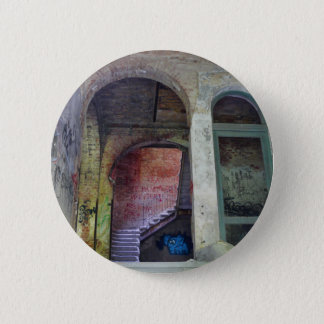 Stairs 02.0 ruin, Lost Places, Beelitz 2 Inch Round Button