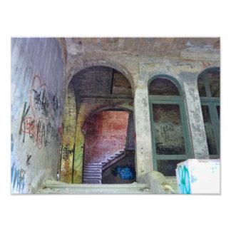 Stairs 02.0 ruin, Lost Places, Beelitz Photo Print