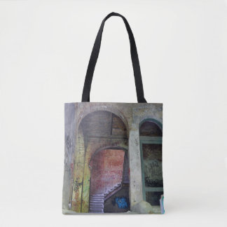 Stairs 02.0 ruin, Lost Places, Beelitz Tote Bag