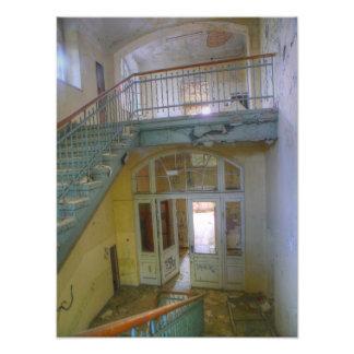 Stairs 03.0, Lost Places, Beelitz Photo Print