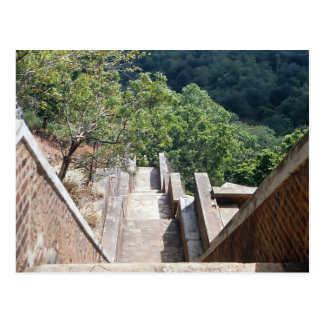 Stairs in Sigiriya/Sri Lanka Postcard