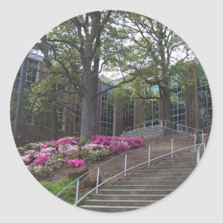 Stairs Leading Towards The Bio-Medical Building At Round Sticker