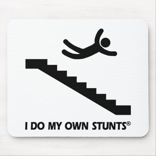 Stairs My Own Stunts Mouse Pad