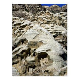 Stairs on the rocks near the Monastery, Petra, Jor Postcard